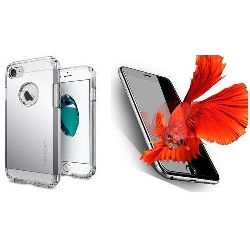 Zestaw | Spigen SGP Tough Armor Satin Silver | Obudowa + Szkło ochronne Perfect Glass dla modelu Apple iPhone 7
