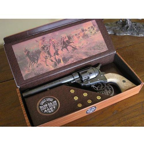 Hiszpania Okazały colt peace maker z 1873 w pudle - naboje replika broni (k1064-1pm)