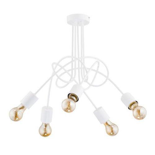 Nowoczesna metalowa lampa wisząca zwis żyrandol Alfa Tango White 5x60W E27 biała 23615 >>> RABATUJEMY do 20% KAŻDE zamówienie!!! (5900458236158)