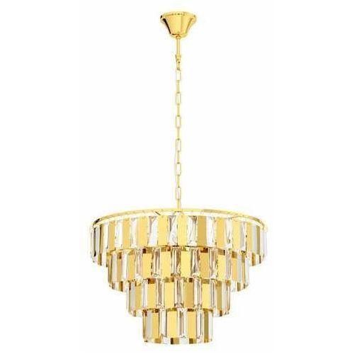 erseka 99097 lampa wisząca zwis 7x40w e14 mosiądz/transparentna marki Eglo