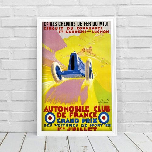 Retro plakat Retro plakat Automobile Club de France Grand Prix Alphonse Noel