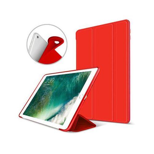 Alogy Etui smart case apple ipad air 2 silikon czerwone + szkło - czerwony