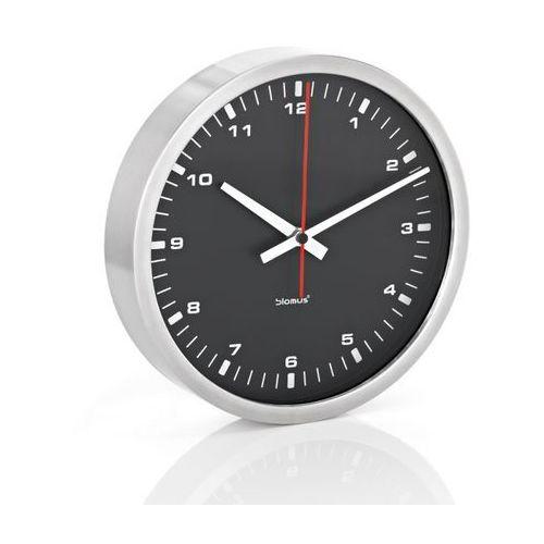 era - zegar ścienny z czarną tarczą - 24 cm - 24 cm marki Blomus
