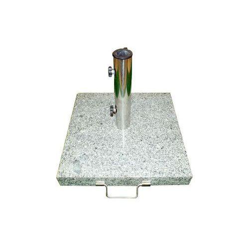 Podstawa z granitu i stali nierdzewnej kwadratowa z kółeczkami pod parasol 50 kg