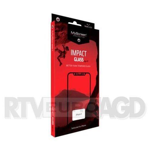 impactglass edge3d iphone x (czarny) marki Myscreen protector