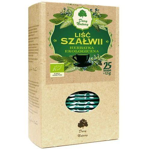 Herbatka liść szałwii bio 25 x 1,5 g szałwia herbata dary natury marki Dary natury - herbatki bio
