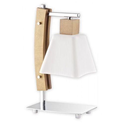 Dreno lampka stołowa 1 pł. / chrom + drewno (dąb), Dodaj produkt do koszyka i uzyskaj rabat -10% taniej! (5907626643886)