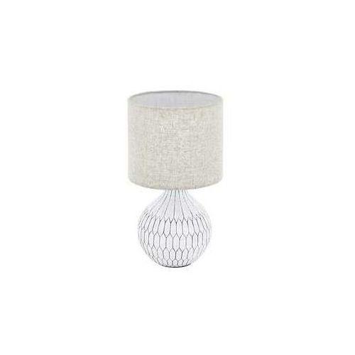 bellariva 3 99332 lampa stołowa lampka 1x40w e27 biała/brązowa marki Eglo
