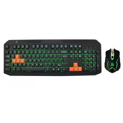 Zestaw przewodowy klawiatura + mysz fighter gaming usb czarny marki Rebeltec