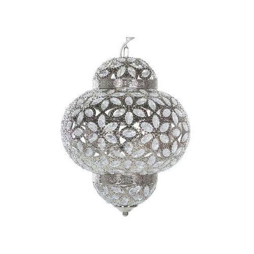 Lampa wisząca metalowa srebrna BANDAMA