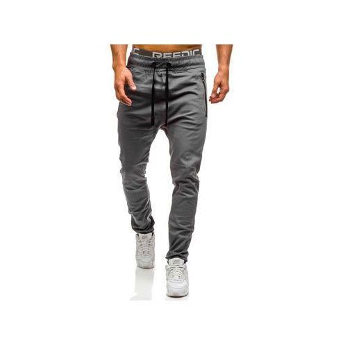 Spodnie joggery męskie szare denley 0803 marki Athletic