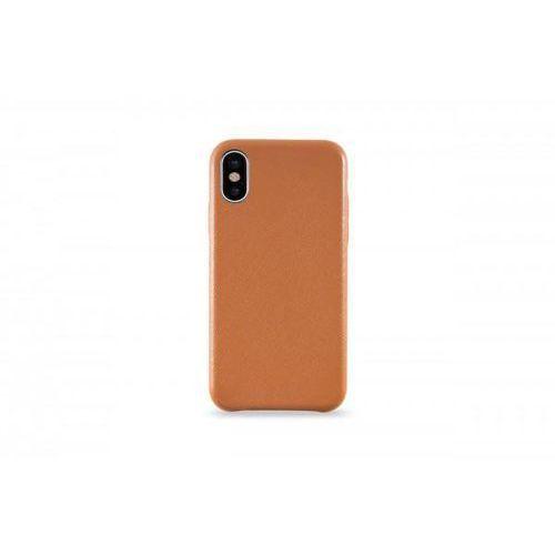 KMP Leather Case do iPhone X skórzane brazowe