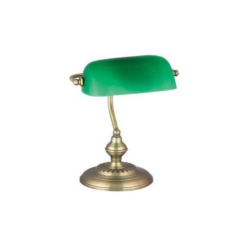 Lampa lampka oprawa stołowa Rabalux Bank 1x60W E27 brązowy/zielony 4038, 4038