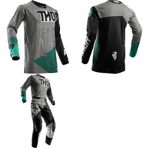 Thor_2018 Thor bluza offroad youth pulse geotec black/teal=$