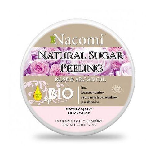 Peeling cukrowy różany z nasionami malin i olejem arganowym 100 ml - marki Nacomi