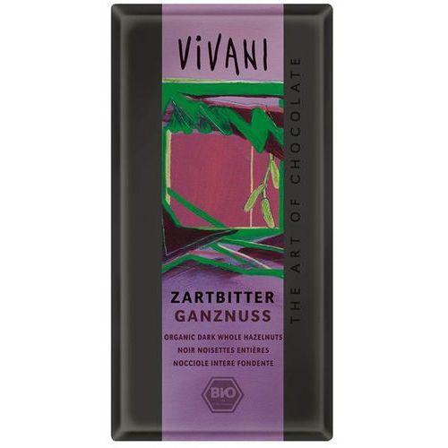 : czekolada gorzka z całymi orzechami laskowymi bio - 100 g marki Vivani
