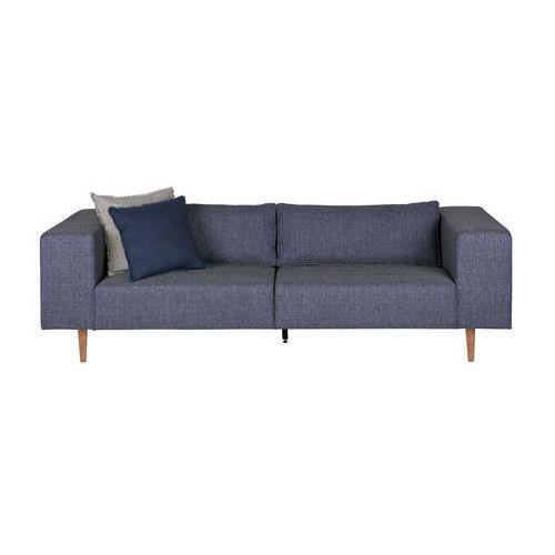 Woood Sofa BJORK 3-osobowa z drewnianymi nogami denim - Woood 375684-755