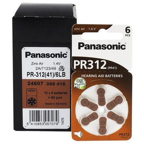 Panasonic 600 x baterie do aparatów słuchowych  312 / pr312 / pr41