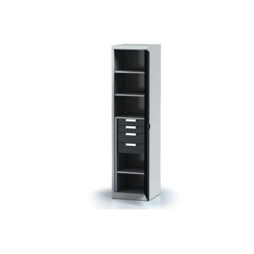 Szafa warsztatowa - 4 półki, 4 szuflady