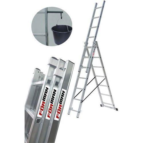 Drabina aluminiowa 3x7 FORMAN na schody + GRATIS