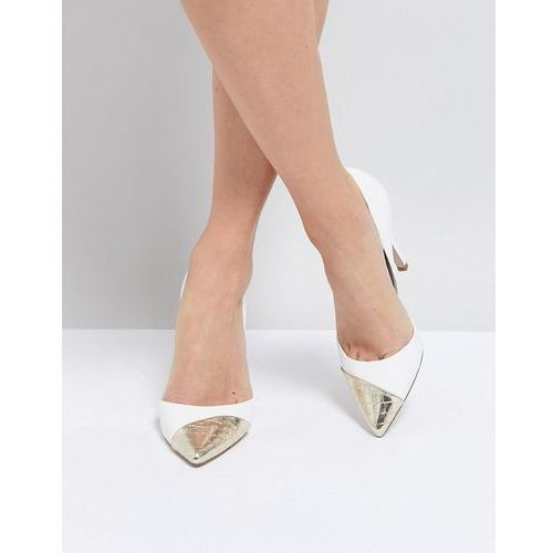 contast toe cap point high heels - white, Miss kg