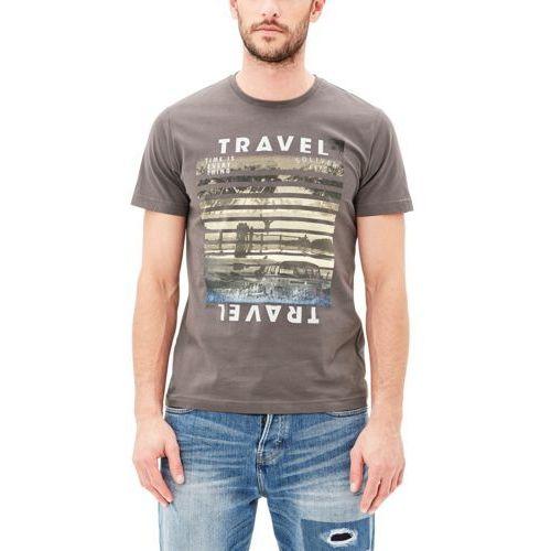 s.Oliver T-shirt męski M szary (4059111348040)