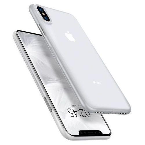 Spigen Etui air skin apple iphone x xs soft clear - biały