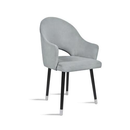 B&d Krzesło bari jasny szary/ noga czarny silver/ ja81