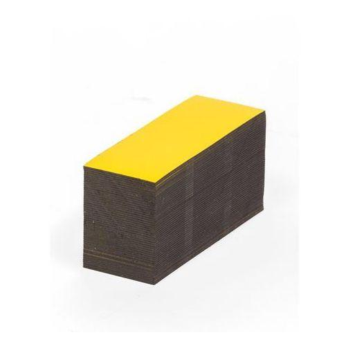 Magnetyczna tablica magazynowa, żółte, wys. x szer. 40x80 mm, opak. 100 szt. Zap