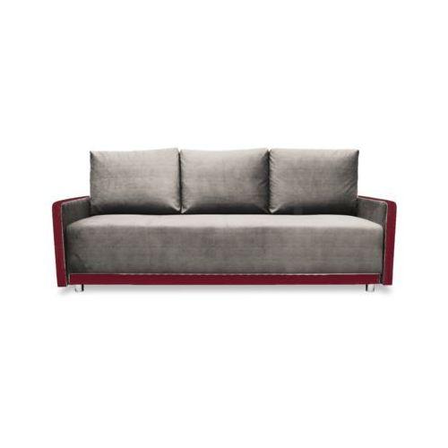 """Sofa """" RAMZES"""" rozkładana - czerwony, kolor czerwony"""