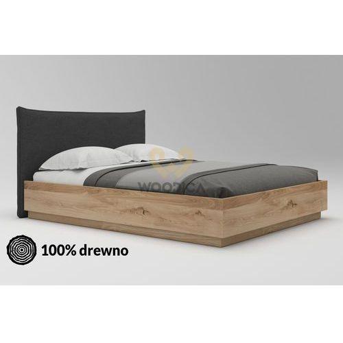Łóżko dębowe morus 02 podnoszone 180x200 marki Woodica