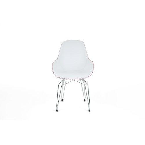 Kubikoff Krzesło DIAMOND GOLD or COPPER DIMPLE POP eko-skóra DIAMONDDIMPLEPOP-ECO GOL/COP, kolor różowy