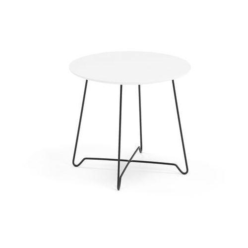 Stół kawowy IRIS, wys. 460 mm, czarny, biały