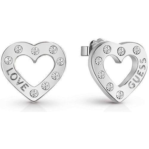 Guess Kształcie serca kolczyki z Crystalami UBE83119 (7613351994398)