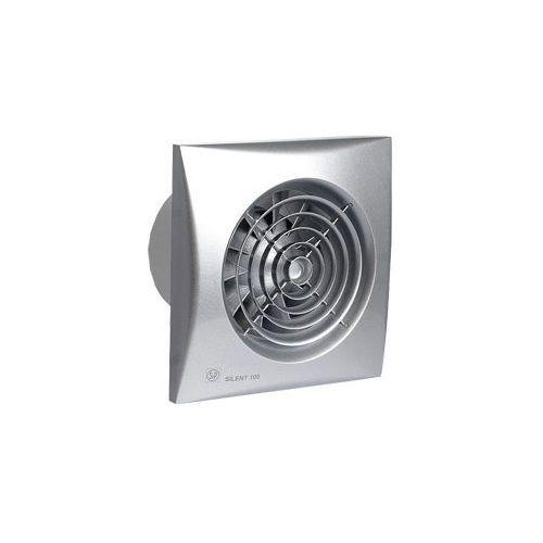 Wentylator łazienkowy cichy Silent Silver 100 CRIZ - Automatyczny Timer