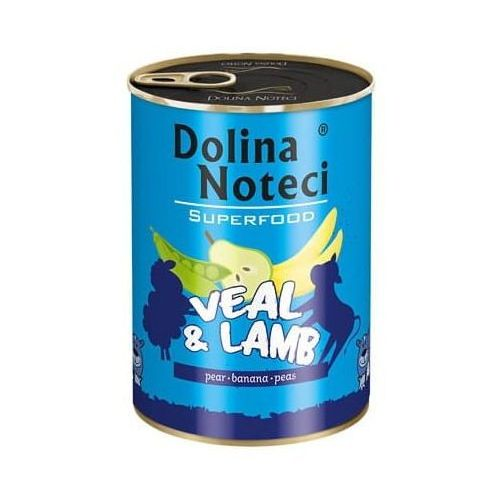 Dolina Noteci Premium Superfood Pies Cielęcina i jagnięcina puszka 400g, MOL-16567