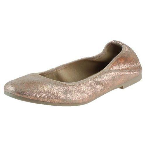 Balerinki 1-22128 - różowe metaliczne, Tamaris