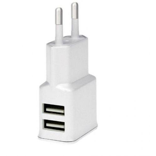 Ładowarka sieciowa 2 USB 2A Biała