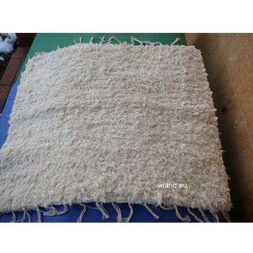 Chodnik bawełniany (wycieraczka) ręcznie tkany ecru 65x50 cm marki Spółdzielnia twórców ludowych