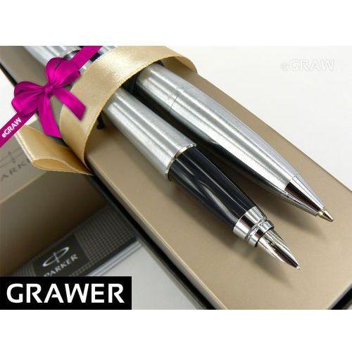 Zestaw Parker Urban Metallic CT Długopis i Pióro wieczne GRAWER