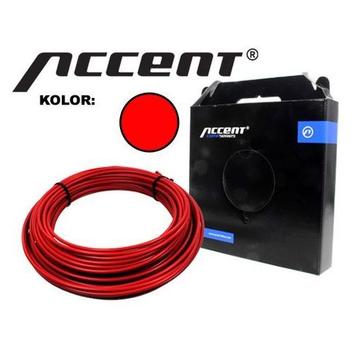 610-20-10_ACC(1) Pancerz przerzutki Accent 4 mm x 1 metr czerwony z teflonem (2010000008898)