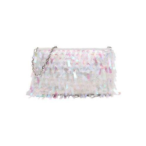 Mascara torba na ramię 'clutch ' różowy pudrowy / biały (5053090566685)