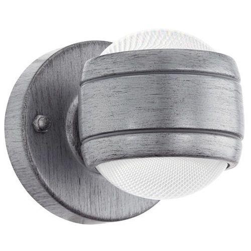 Kinkiet Eglo Sesimba 96267 lampa ścienna 2x3,7W LED antyczne srebro, 96267