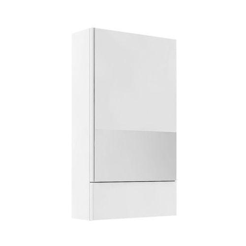 Nova Pro Koło szafka wisząca 49 3 x 85 x 17 6 cm z lustrem biały połysk - 88431000