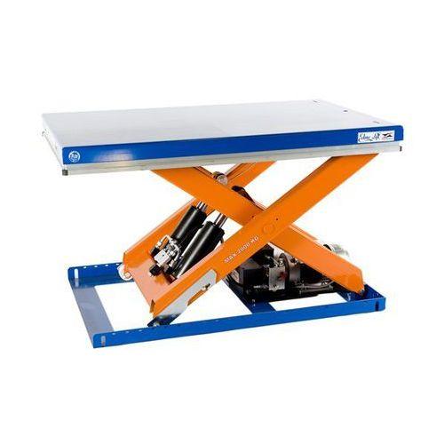Kompaktowy stół podnośny, nośność 2000 kg, dł. x szer. platformy 1300x800 mm, po