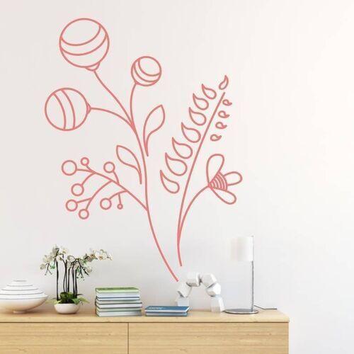 Wally - piękno dekoracji Naklejka dekoracja kwiatowa 2143