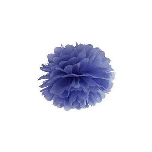 Dekoracja wisząca pompon kwiat - granatowa - 25 cm - 1 szt. marki Party deco