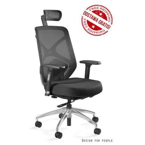 Fotel Unique HERO czarny-siatka-tkanina, Negocjuj cenę, NOWOŚĆ!, Unique
