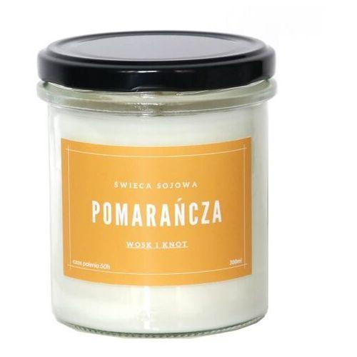 Świeca sojowa pomarańcza - aromatyczna ręcznie robiona naturalna świeca zapachowa w słoiczku 300ml marki Cup&you cup and you