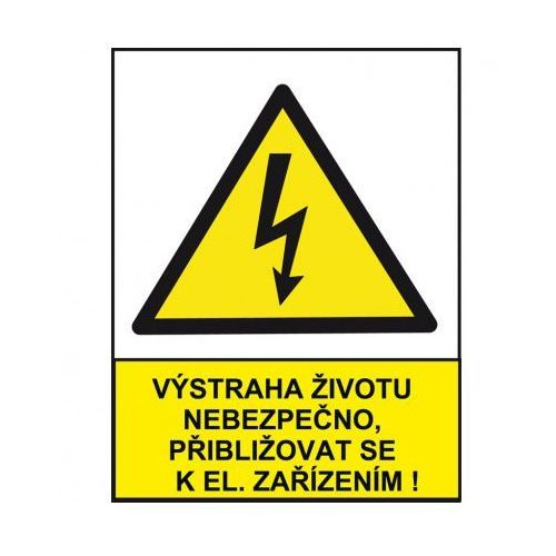 Ostrzeżenie o niebezpieczeństwie dla życia przy zbliżaniu się do urządzeń elektrzycznych